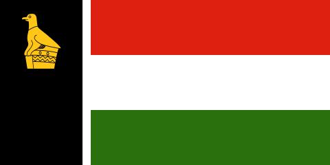 A rövid életű kvázi-államalakulat, Zimbabwe-Rodézia lobogója. (forrás: Wikipedia)