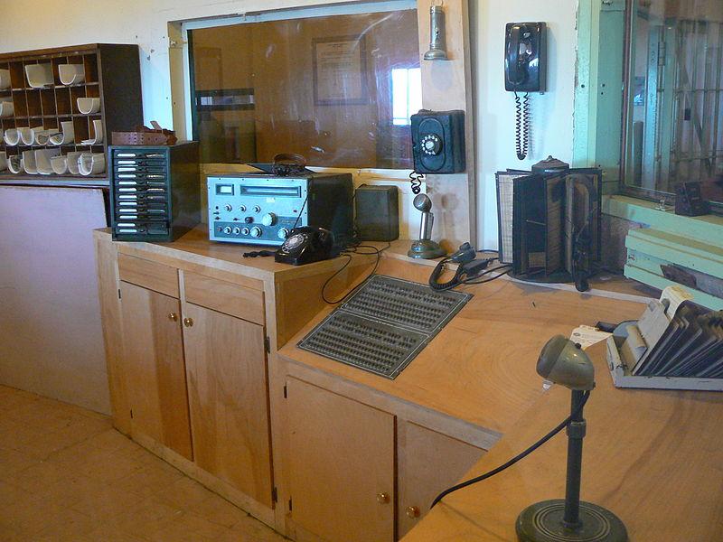 Alcatraz kommunikációs helyisége. (forrás: Wikipedia)