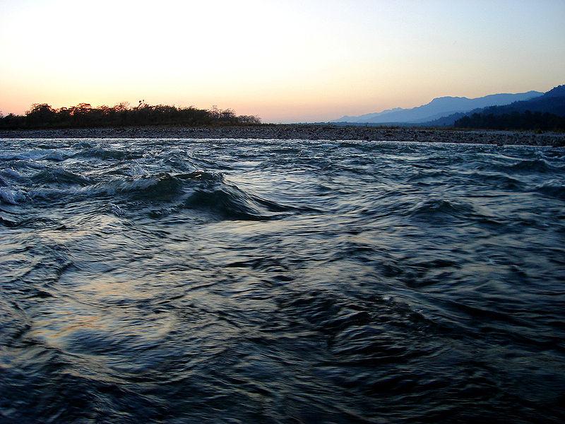 A Manasz (Drangme-csu) folyó Bhután és Asszám (India) határán. (forrás: Wikipedia)
