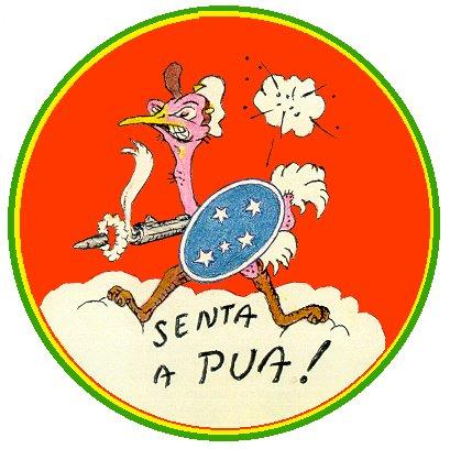 A Brazil Expedíciós Erő 1. vadászrepülő századának jelvénye. (forrás: Wikipedia)