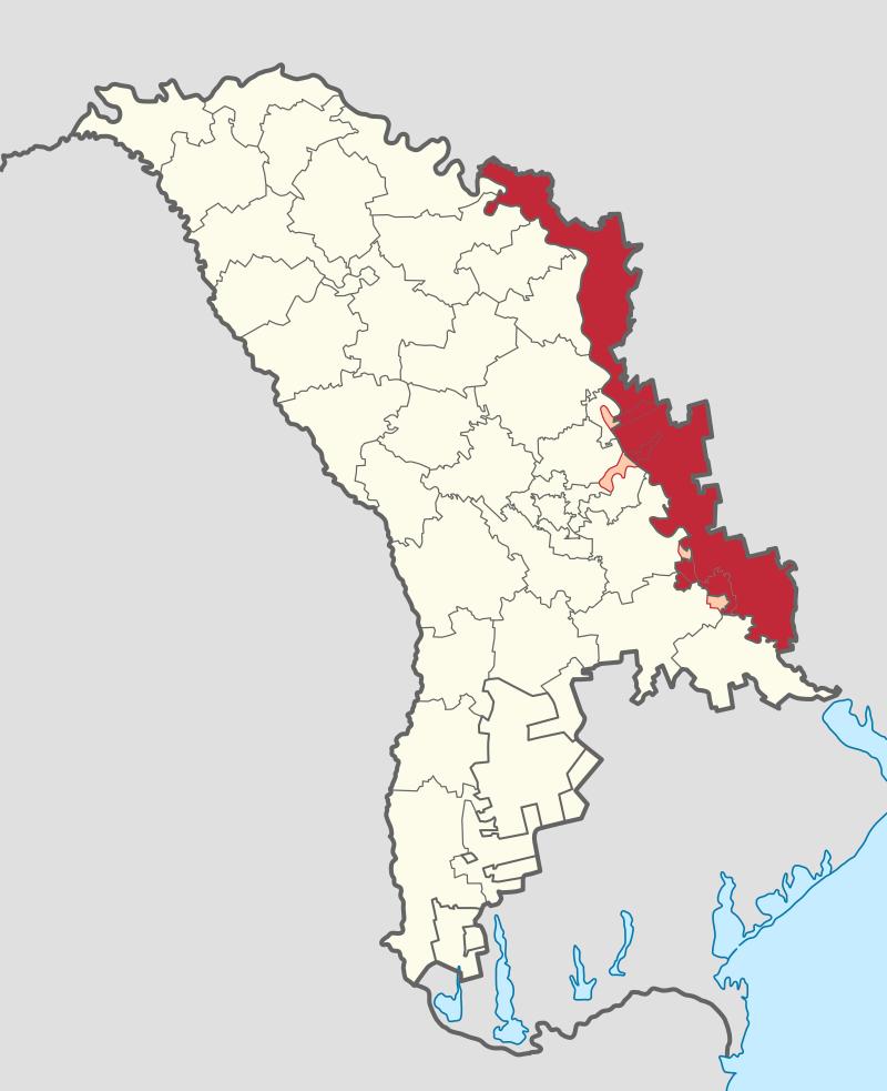 A Dnyeszter-menti Moldáv Köztársaság Moldova és Ukrajna közé ékelődve helyezkedik el. Moldova területének és össznépességének egyaránt nagyjából tíz százalékát birtokolja. (forrás: Wikipedia)