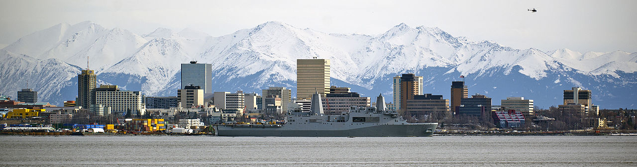 Alaszka legnépesebb települése, Anchorage: a városban él majdnem minden harmadik alaszkai. (forrás: Wikipedia)