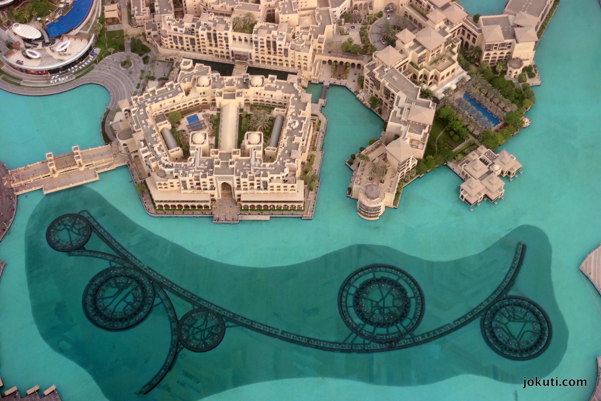 A Dubai Fountain felülről