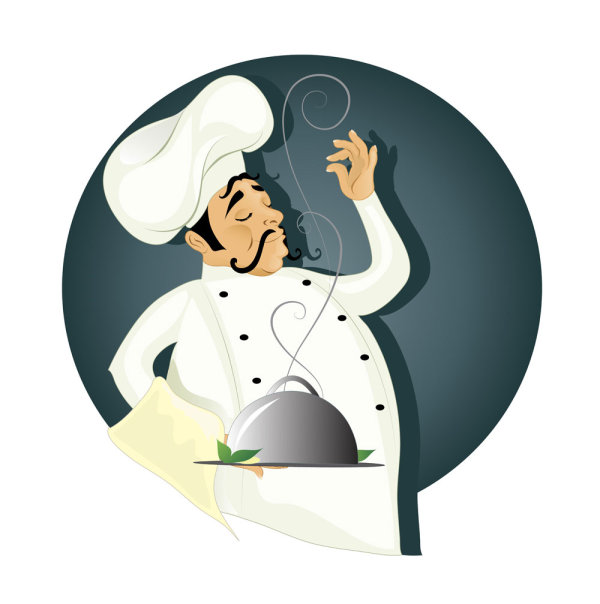 cartoon-western-style-food-waiter-vector-material.jpg