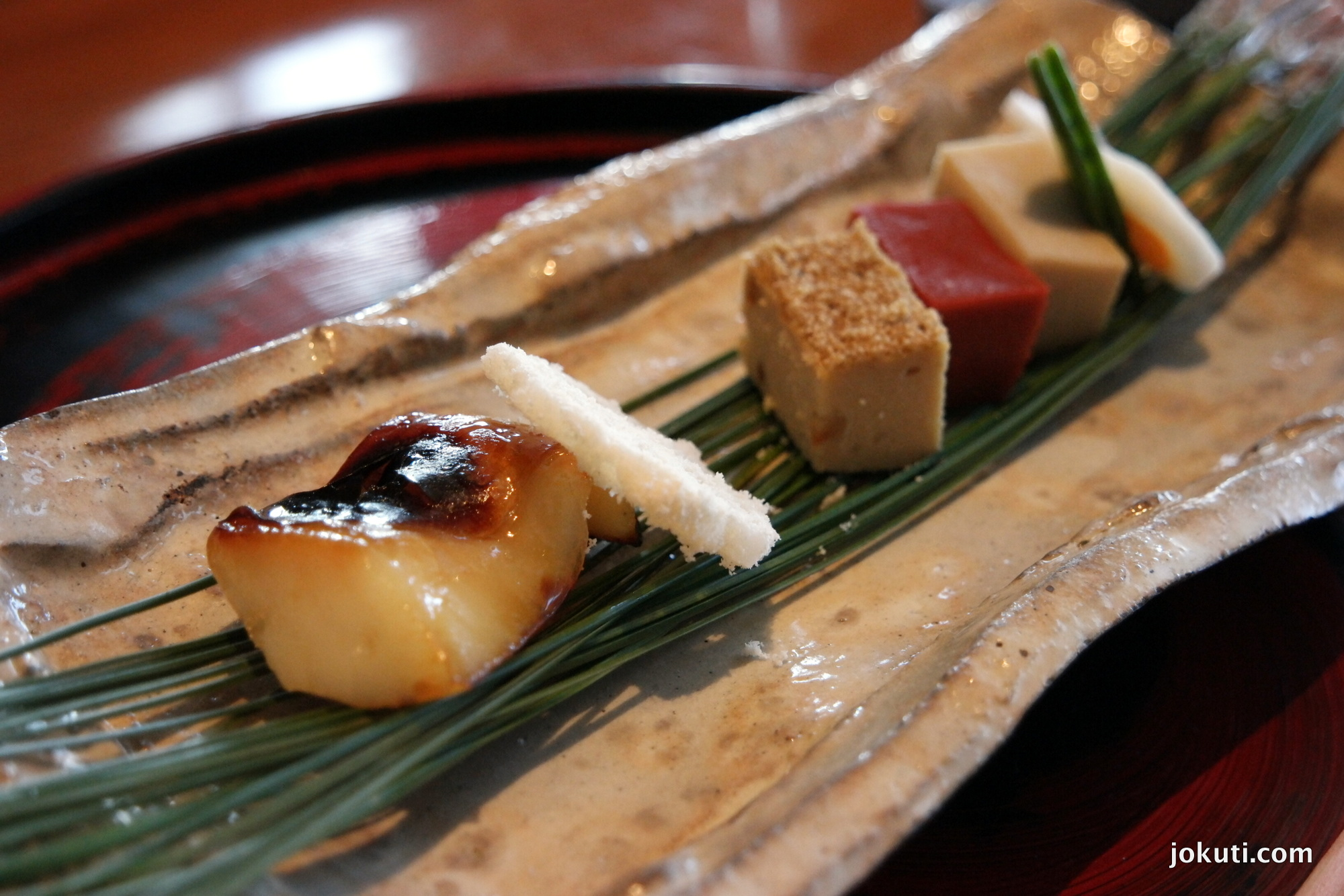 Grilled butter fish, saikyo miso, vegetables, delicacies