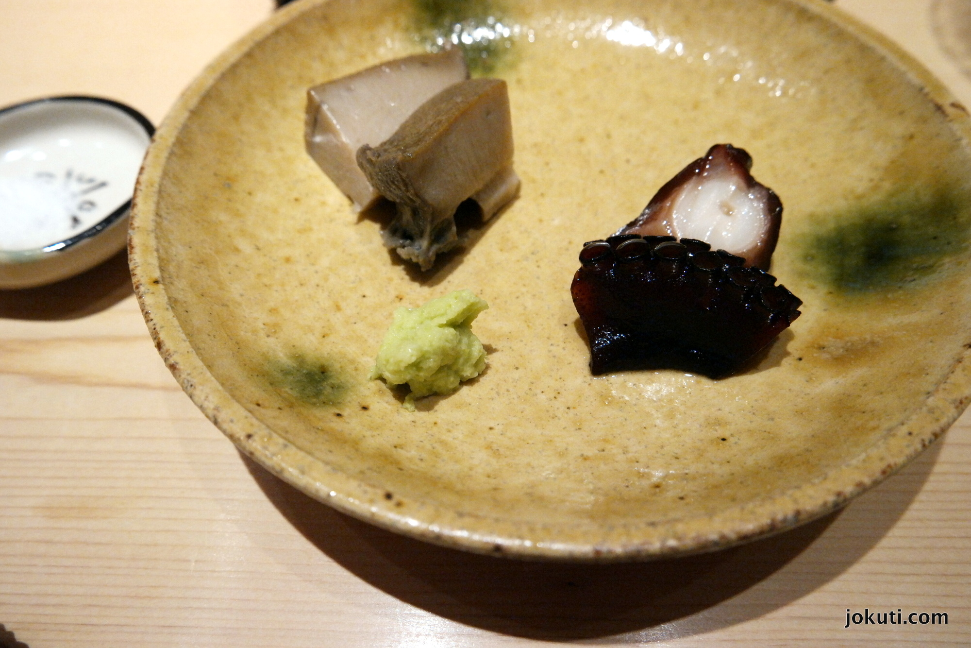 Abalone and octopus.