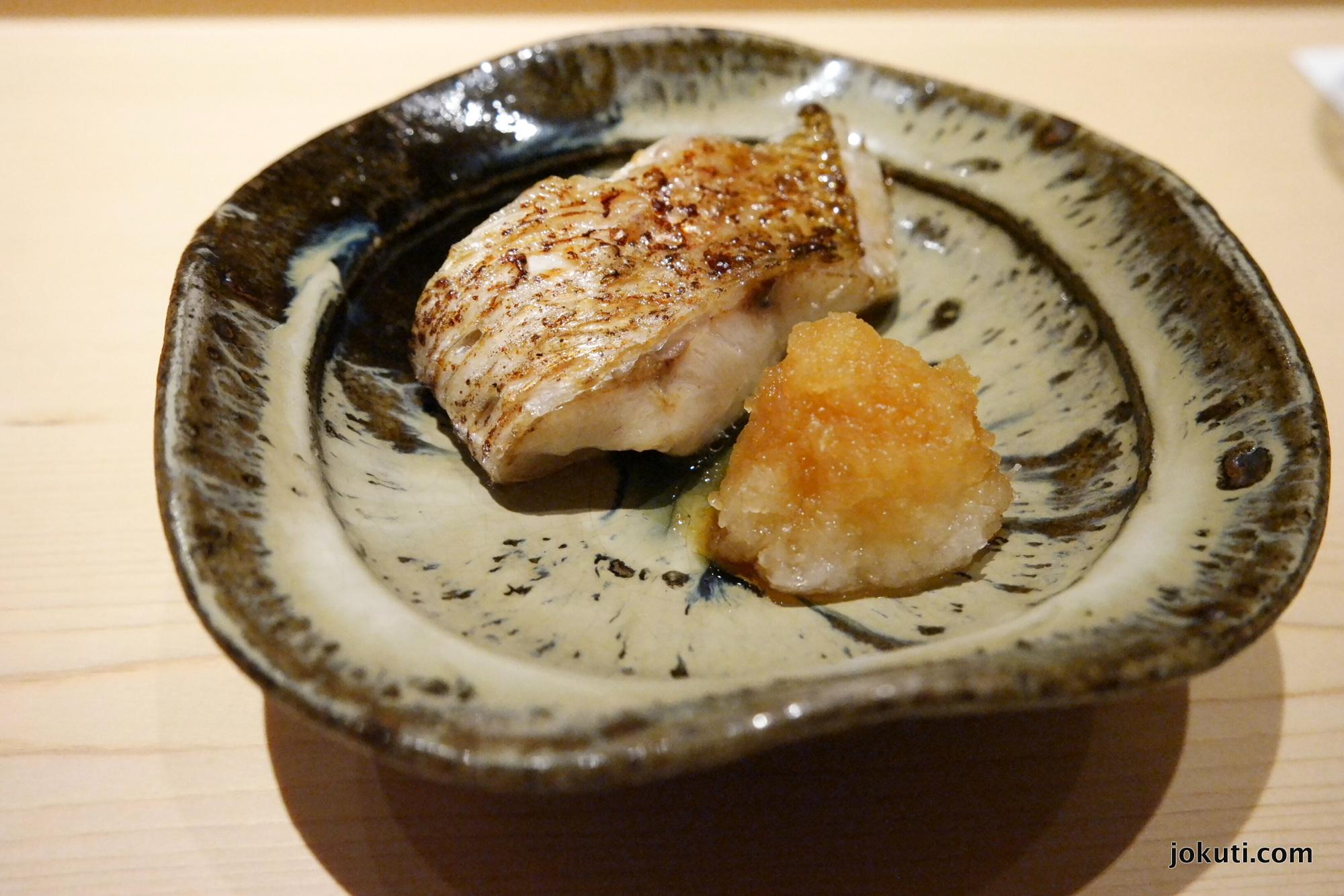 Grilled nodoguro (blackthroat seaperch)