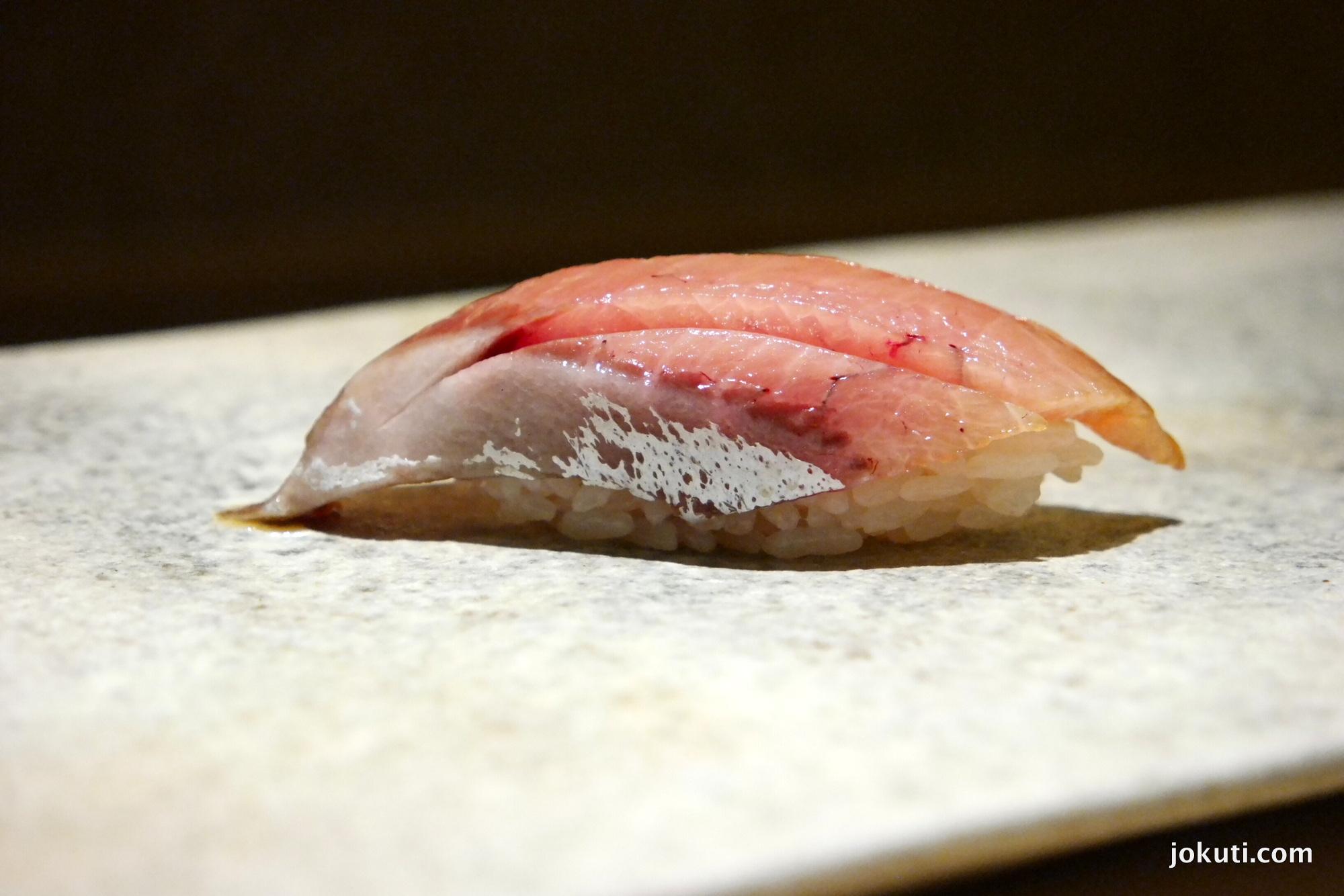 Buri zuke (sárgafarkú fattyúmakréla, felnőtt, marinálva)<br />