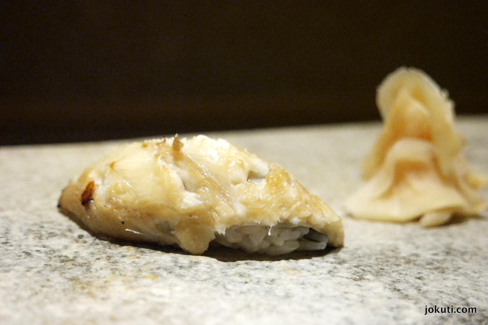 Anago Shio & Tsume (sea eel with salt and tsume sauce)<br />