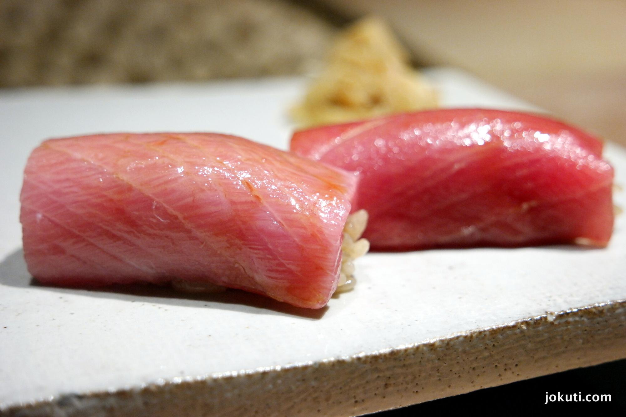 Kék úszójú tonhal toro része, natúr, illetve szójaszószban marinálva