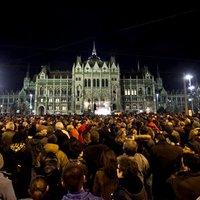 Tüntetés a magyar sajtószabadságért 1. fotók