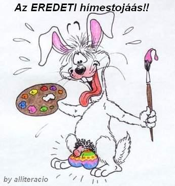 Húsvét tojásait festő nyuszi.jpg
