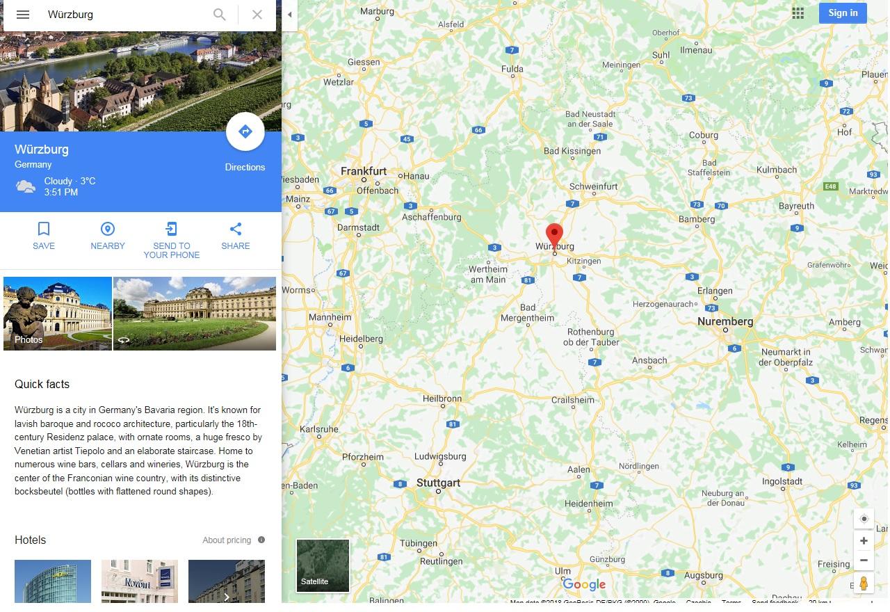 A würzburgi érseki rezidencia a kastélykertekkel