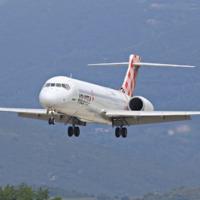 Boeing 717 - repülés a Volotea Szantorini-Athén járatán