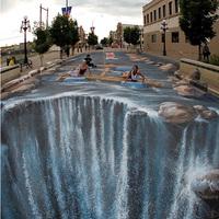 3D-s természet a városban