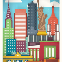 Világvárosok esszenciája poszteren