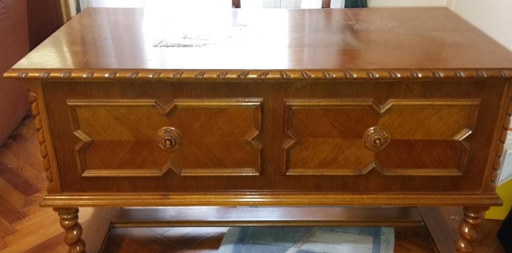 Koloniál bútor felújítása házilag