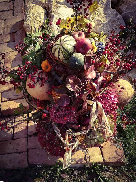 """Őszi """"terméstorony """" az udvarra"""