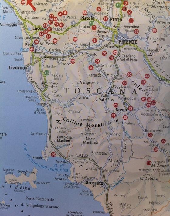 toscana térkép Villa Oliva   Virágom, virágom toscana térkép
