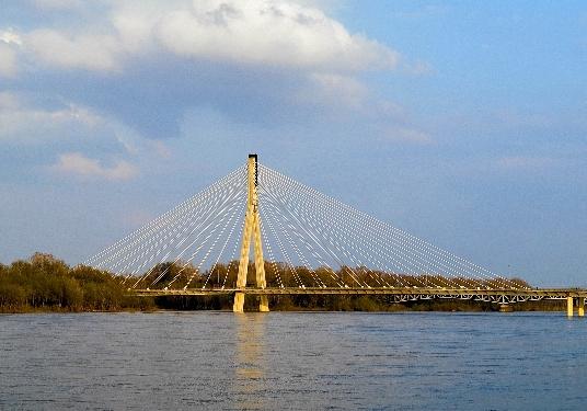 A Świętokrzyski-híd és a Visztula