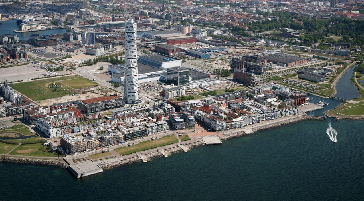 Az ökováros Malmö-ben a Turning Torso-val