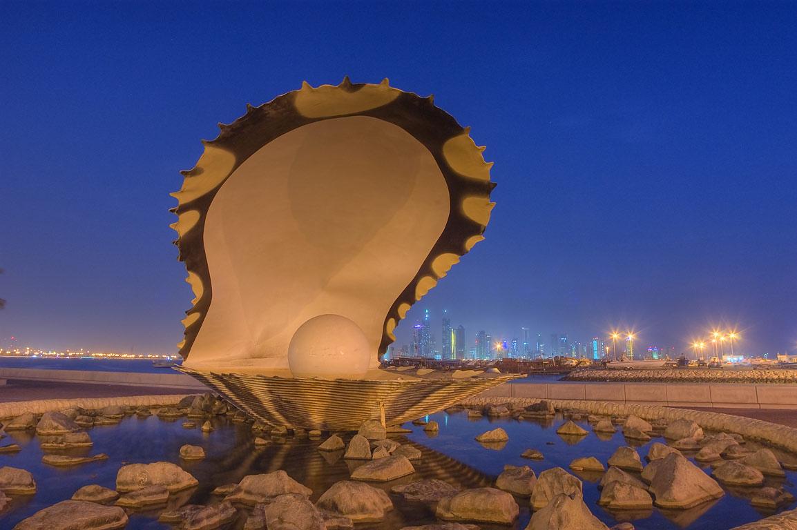 Osztriga szökőkút - Doha