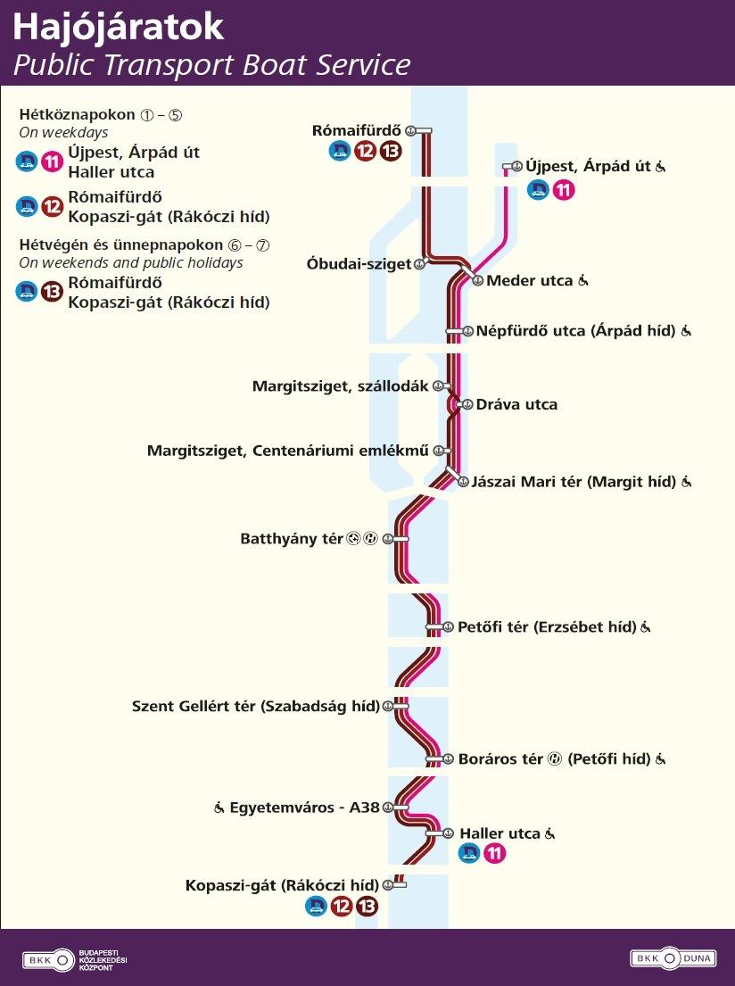 bkv hajó megállók térkép Menetrend szerinti hajóközlekedés: gőzhajótól a katamaránig?   víz  bkv hajó megállók térkép