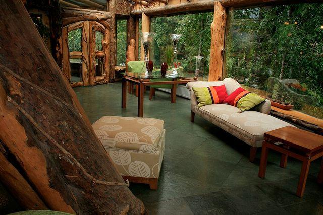 Hotel a Huilo Huilo Természetvédelmi Terülten