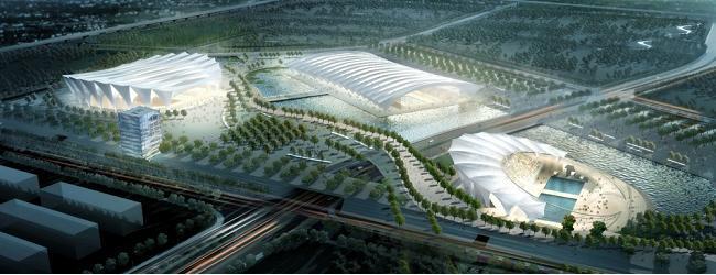 Az Oriental Centel sportkomplexum Sanghajban