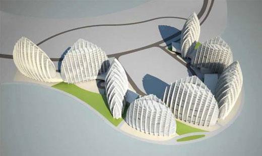 Nyolc bioklimatikus épület