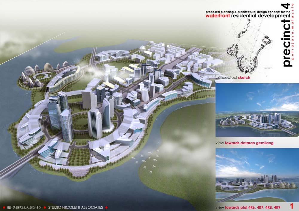 Putrajaya közigazgatási központ Kuala Lumpurtól 25 km-re