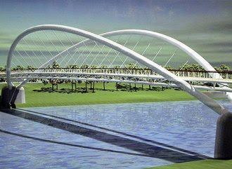 A Tiszavirág híd Szolnokon