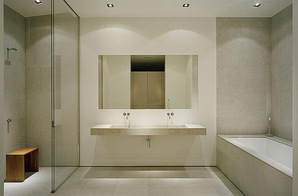Fürdőszoba minimál stílusban