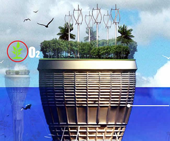 A vízkarcoló tetőkertje