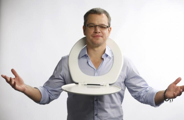 Matt Damon és WC deszkája