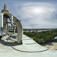 Gömbpanoráma fotók a Margitszigeti Víztoronyban
