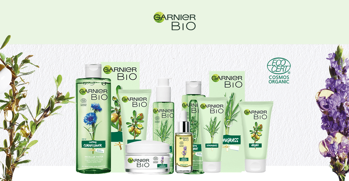 Garnier BIO arcápolási termék vegán összetevőkkel