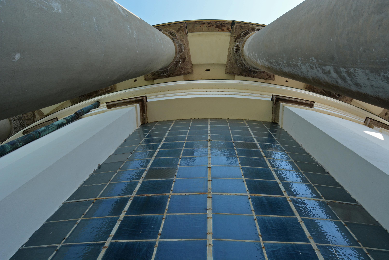 feljebb lépve: különleges látvány a kupola alatti terasz