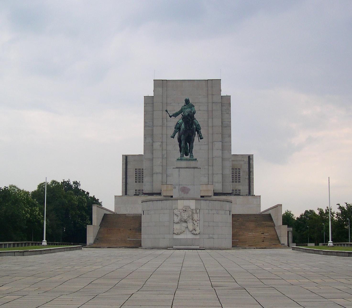 Jan Žižka szobra a Vitkovon