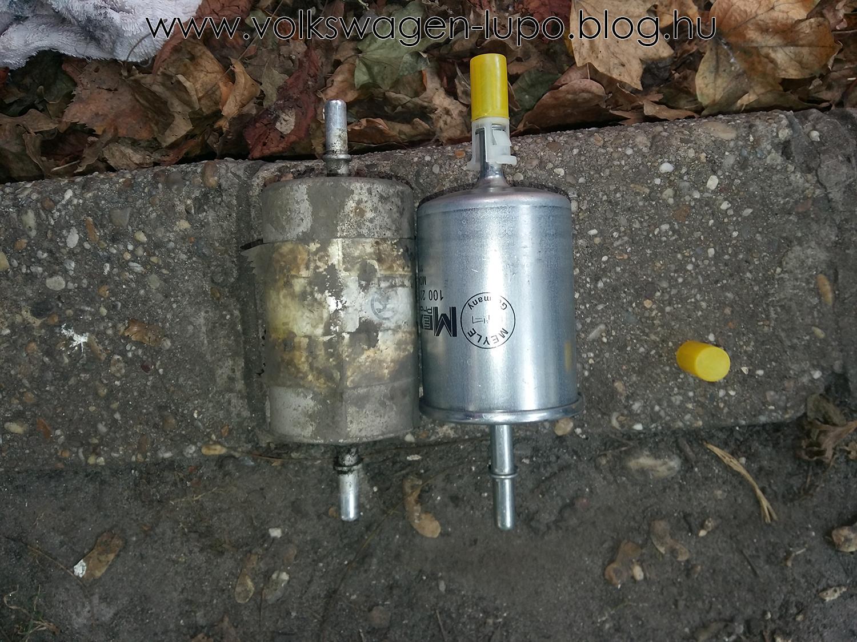 Benzinszűrő beszerelés
