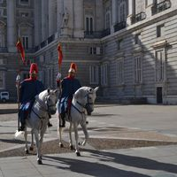 A madridi spanyol királyi palotában
