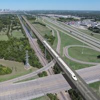 A texasi nagysebességű vasútvonal