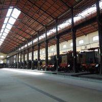 A Nápolyi vasúti múzeum - a gőzmozdonyok csarnoka