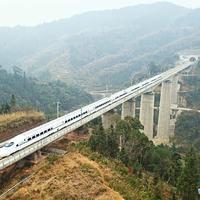 A Kujjang-Kanton nagysebességű vasútvonalon