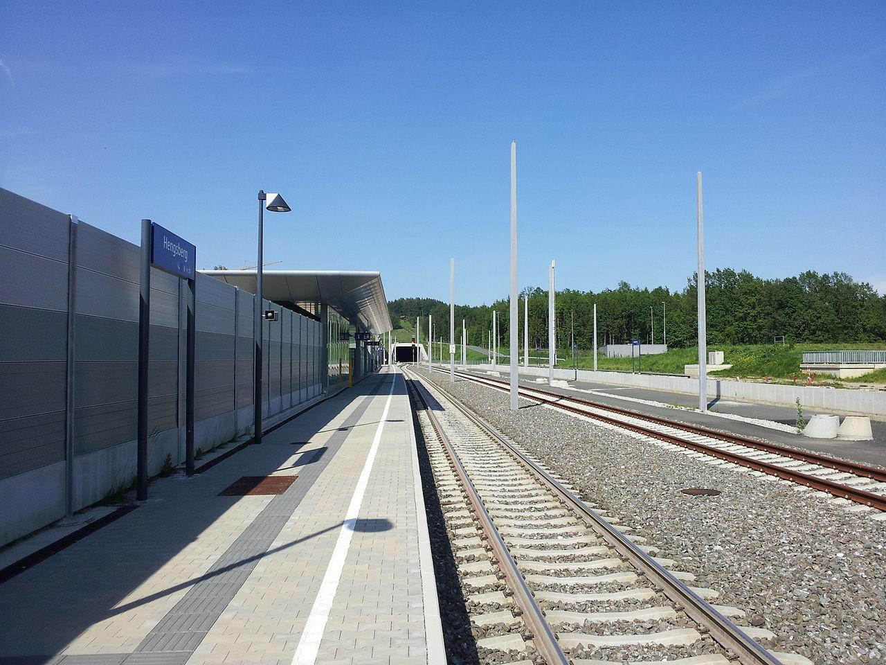 ausztria Hengsberg épülő állomás Koralmbahn nagysebességű vasút