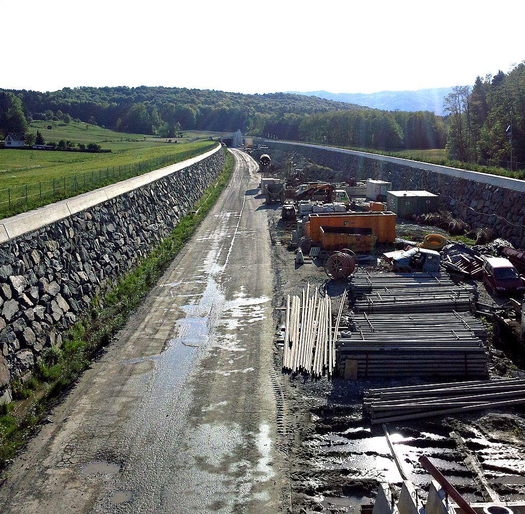 ausztria Koralmbahn nagysebességű vasút