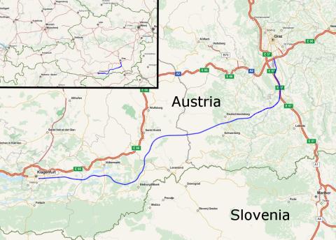 ausztria koralmbahn nyomvonal nagysebességű vasút