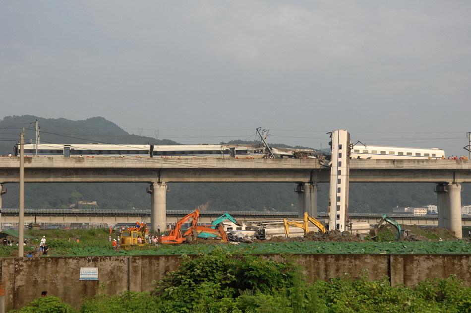 Kína baleset nagysebességű vasút 2011 Vencsou
