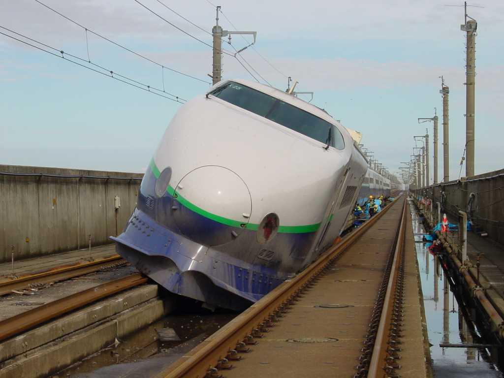 Sinkanszen baleset japán nagysebességű vasút földrengés