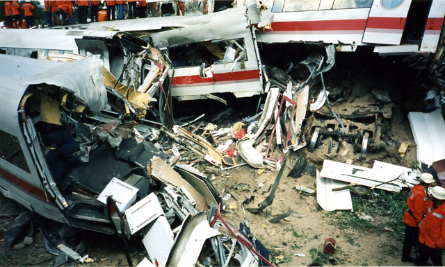 Eschede baleset ICE nagysebességű vasút